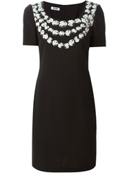 Moschino Cheap And Chic Printed Neck Dress Black