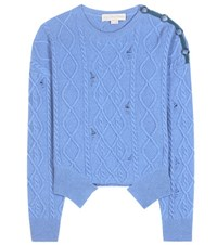Stella Mccartney Cashmere And Wool Sweater Blue
