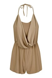 Love Cowl Front Playsuit By Tan