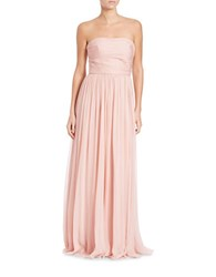 Vera Wang Strapless Ruched Gown Blush