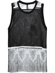 Astrid Andersen Lace Panel Tank Top Black