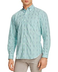 Tailorbyrd Check Classic Fit Button Down Shirt Green