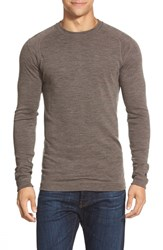 Men's Smartwool Long Sleeve Thermal T Shirt Taupe Heather