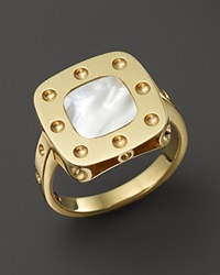 Roberto Coin 18K Yellow Gold Pois Moi Mother Of Pearl Ring Gold White