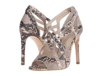 The Kooples High Sandals In Natural Embossed Python Natural High Heels Beige