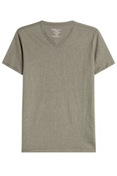 Majestic Linen T Shirt With V Neckline Gr. M