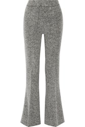By Malene Birger Vassionah Boiled Wool Blend Flared Pants Gray