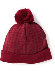 Fendi Bobble Hat Red