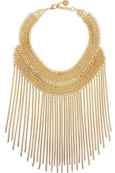 Ben Amun Gold Plated Chain Bib Necklace Metallic