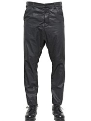 Alexandre Plokhov Waxed Cotton Bemberg Long Drop Trousers