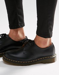 Dr. Martens Dr 1461 3 Eye Gibson Flat Shoes Black Smooth