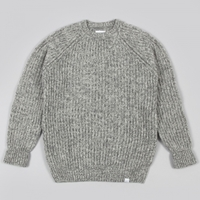 Norse Projects Ralf Twisted Yarn Knit Light Grey Melange