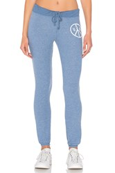 Junk Food Peace Sign Sweatpant Blue
