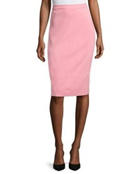 Ming Wang Straight Knit Pencil Skirt Fla