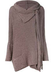 Forme D'expression Oversized Wrap Cardigan Grey