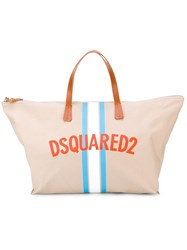 Dsquared2 Logo Weekender Tote Nude And Neutrals