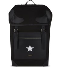 Givenchy Rider Star Canvas Backpack Black