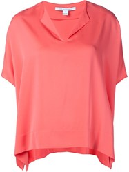 Diane Von Furstenberg Boxy T Shirt Pink And Purple