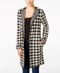 Ny Collection Petite Houndstooth Duster Cardigan Cilla