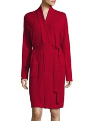 Lord And Taylor Cashmere Robe Red