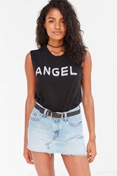 Silence And Noise Angel Skull Muscle Tee Black