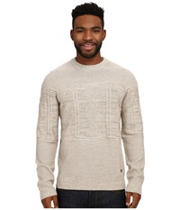 Smartwool Cheyenne Creek Cable Sweater Natural Heather Men's Long Sleeve Pullover Beige