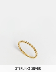 Asos Gold Plated Sterling Silver Mini Ball Ring
