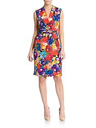 Toledo Floral Print Dress Red Multi