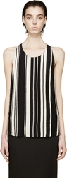 Balmain Black And White Beaded Tank Top