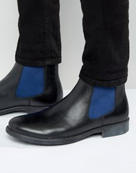Dune Chunky Chelsea Boots With Colour Pop Detail Black