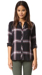 Rails Hunter Button Down Shirt Jet White Ruby