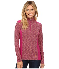 Spyder Bocca Poly Stretch T Neck Wild Edge White Women's Long Sleeve Pullover Pink
