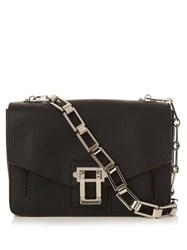 Proenza Schouler Hava Leather Shoulder Bag Black