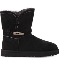 Ugg Meadow Suede Sheepskin Lined Ankle Boots Black