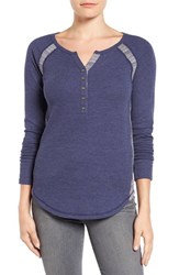Lucky Brand Women's Pieced Thermal Henley