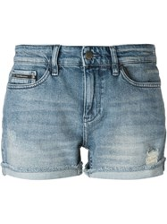 Calvin Klein Jeans Distressed Denim Shorts Blue