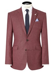 John Lewis Tailored Crosshatch Blazer Raspberry