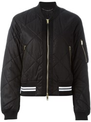 Rag And Bone Rag And Bone Quilted Bomber Jacket Black