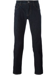 Dolce And Gabbana Rose Patch Jeans Blue
