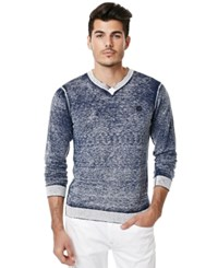 Buffalo David Bitton Men's Waspel Blasted V Neck Sweater