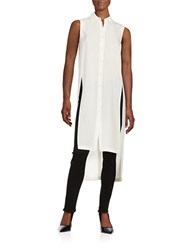 Dkny Cotton Hi Lo Tunic Top Chalk White