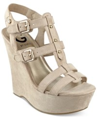 G By Guess Women's Hippo Platform Wedge Sandals Women's Shoes