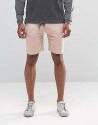 Asos Jersey Shorts In Light Pink Rose Dust