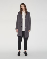 Pas De Calais Wool Coat Charcoal
