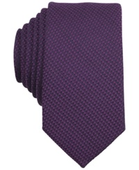 Bar Iii Carnaby Collection Solid Knit Skinny Tie Purple
