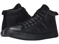 Polo Ralph Lauren Clarke Black Smooth Oil Leather Sport Suede Men's Lace Up Casual Shoes