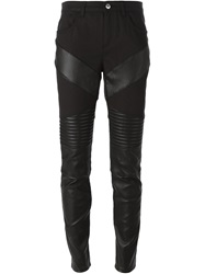 Givenchy Panelled Skinny Trousers Black