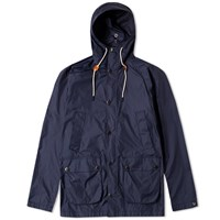 Barbour Hooded Bedale Jacket Blue