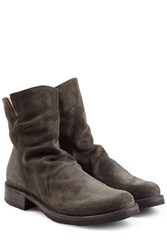 Fiorentini Baker And Distressed Sueded Ankle Boots Grey