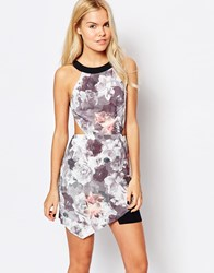 Style Stalker Sweetheart Floral Dress With Cut Outs Multi